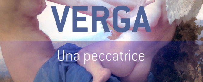 Copertina ebook - Una Peccatrice - Giovanni Verga