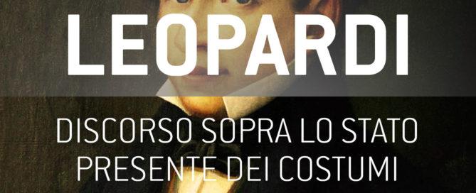 Copertina ebook - Discorso sopra lo stato presente dei costumi degl'Italiani - Giacomo Leopardi